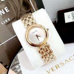 Versace 28mm Champagne/Gold Model Watch